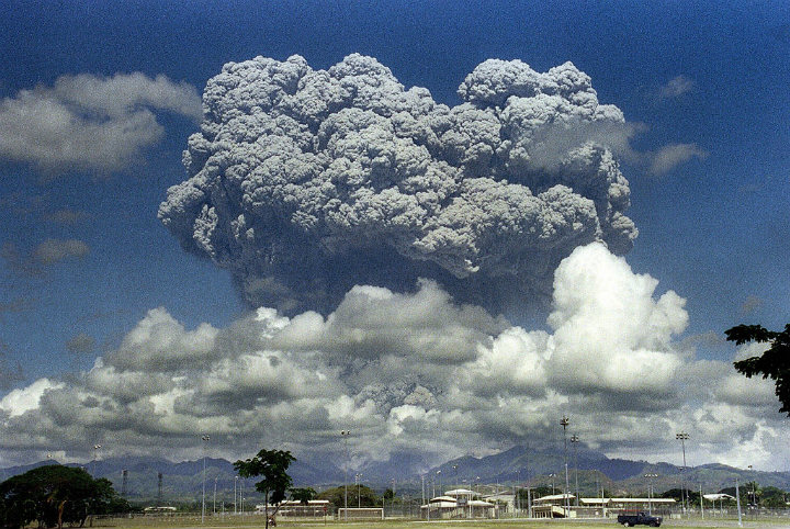 Pyroclastic Flow from Mt. Pinatubo 1991 Eruption in Philippines