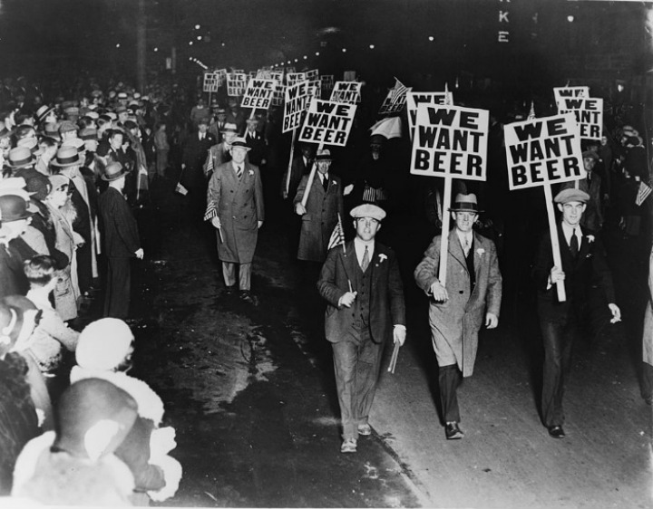 We Want Beer Protest During the Prohibition Era