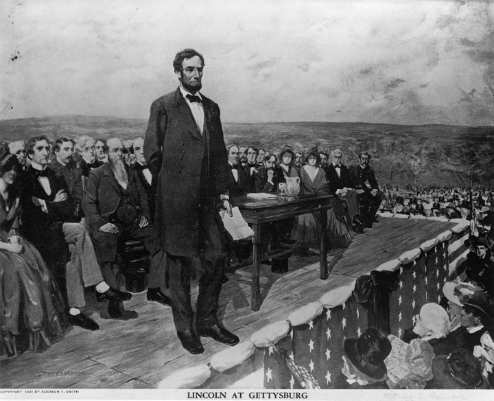 Gettysburg Address - President Abraham Lincoln on November 19, 1863