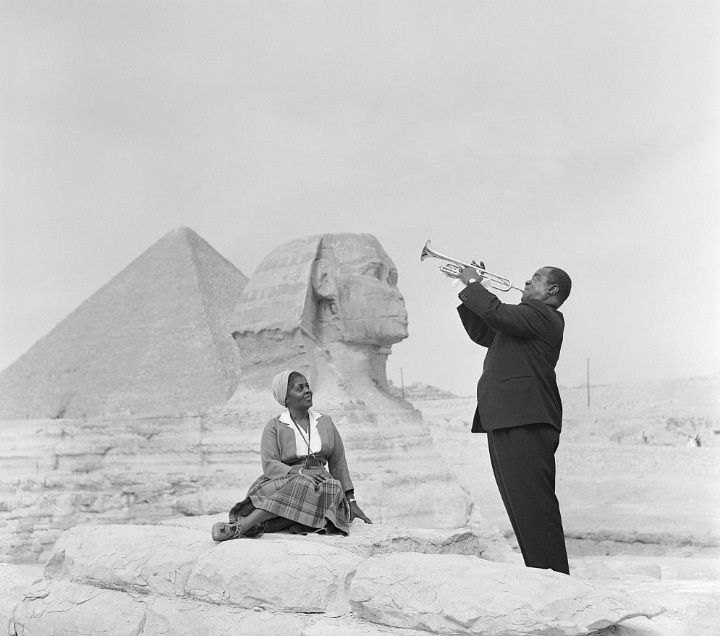 Louis Armstrong Playing for His Wife Lucille