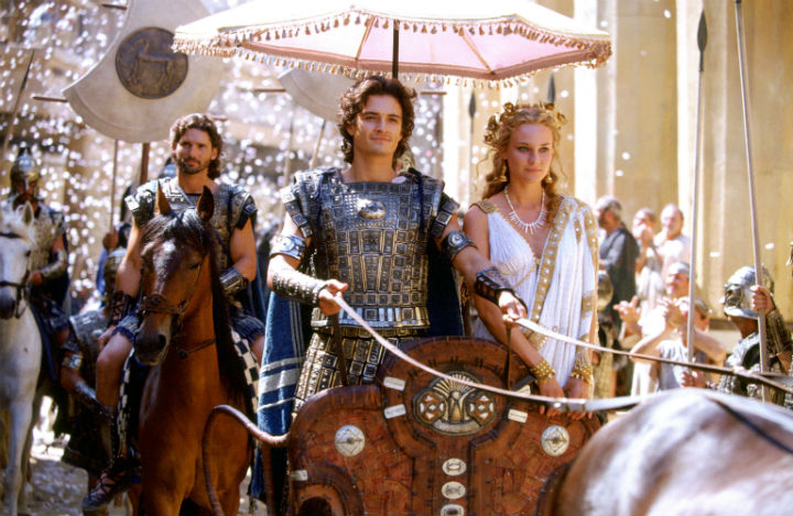 Troy movie mistakes
