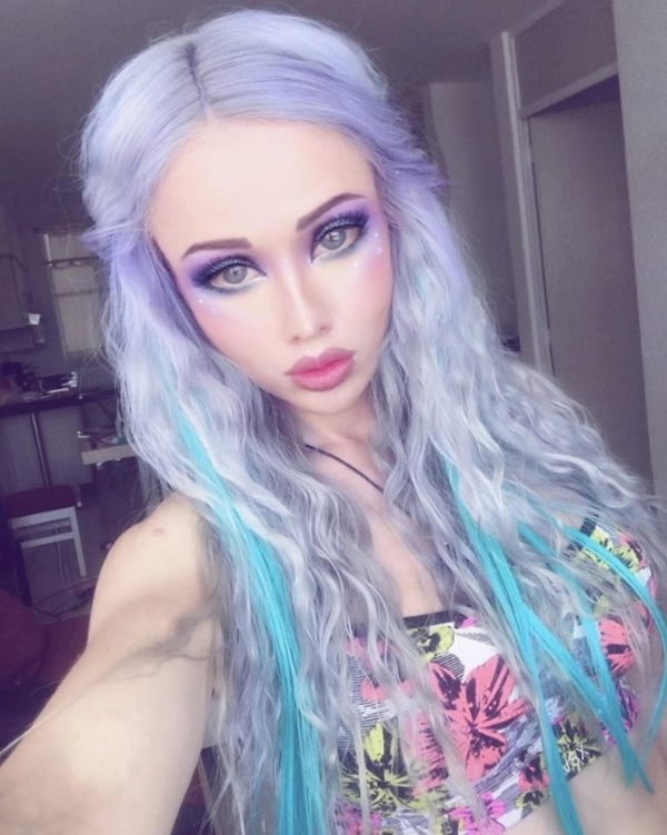 Valeria Lukyanova Colorful Hair