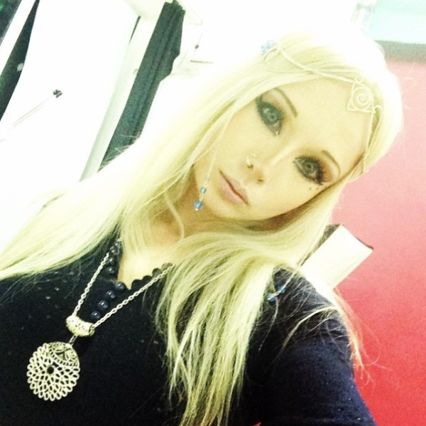 Valeria Lukyanova Wearing Black