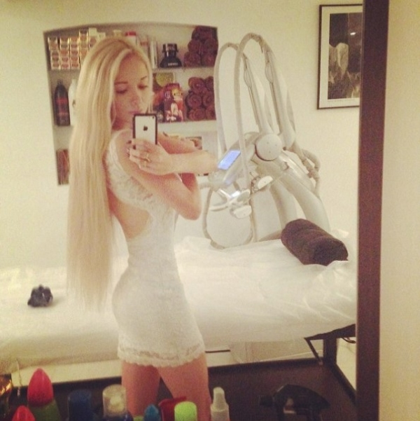 human barbie mirror pic