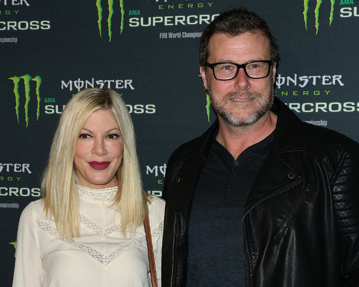 Den McDermott and Tori Spelling