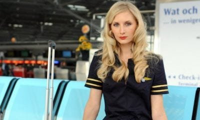 stewardess flight attendant