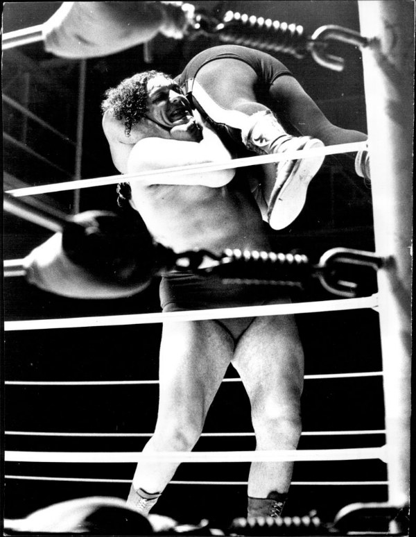Andre the Giant fighting