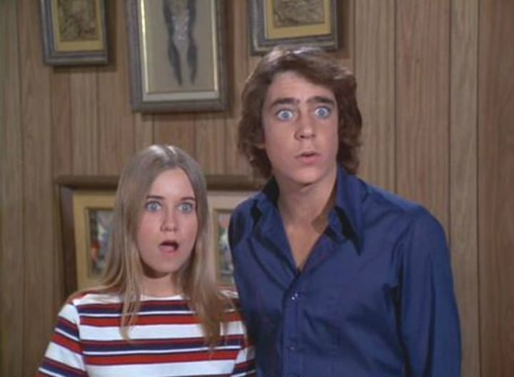 on-screen siblings who dated - brady bunch