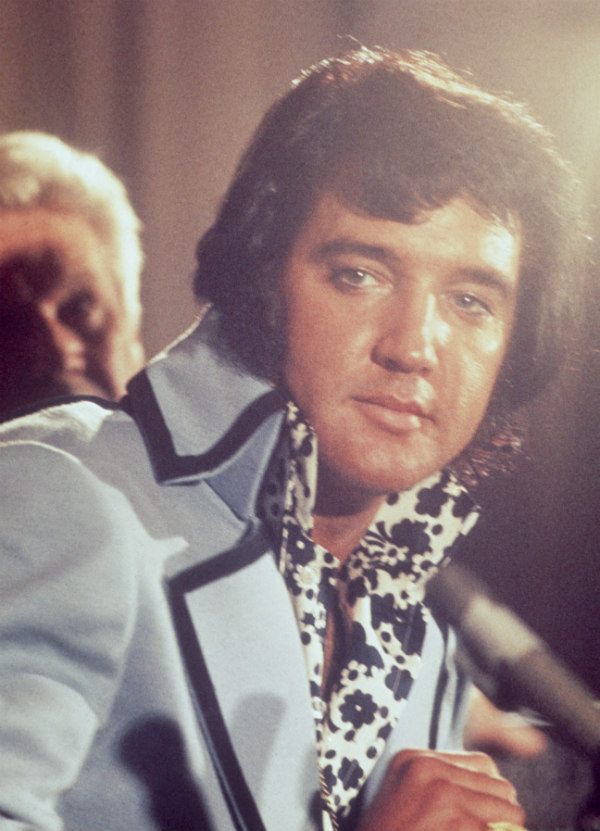 Elvis Presley Wearing a High Collar