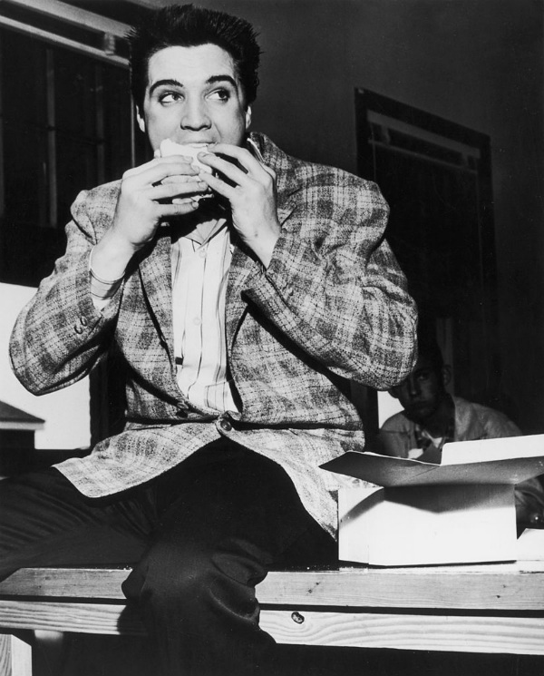 Elvis Presley Eating a Sandwich in Memphis,Tennesse