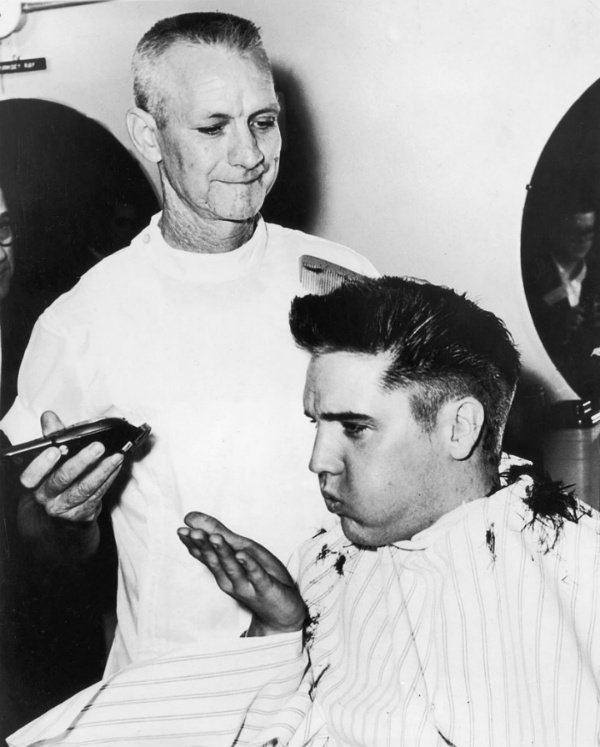 Elvis Presley at Hairdresser