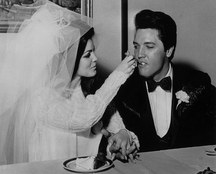 Elvis Presley and Priscilla Beaulieu Wedding