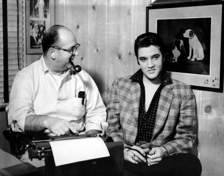 Elvis Presley and Manager Colonel Tom Parker