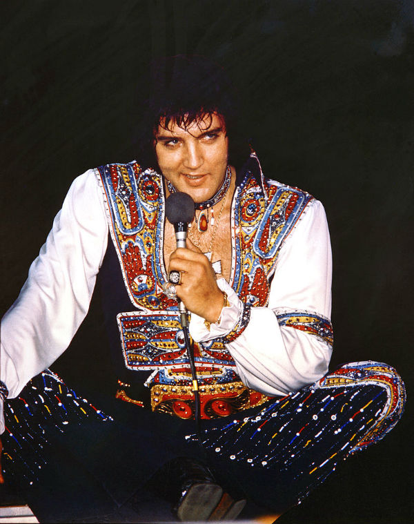 Elvis Presley Performing in Asheville, North Carolina on July 23, 1975