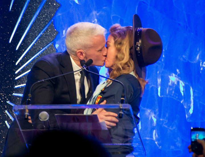 Madonna kissing Anderson Cooper