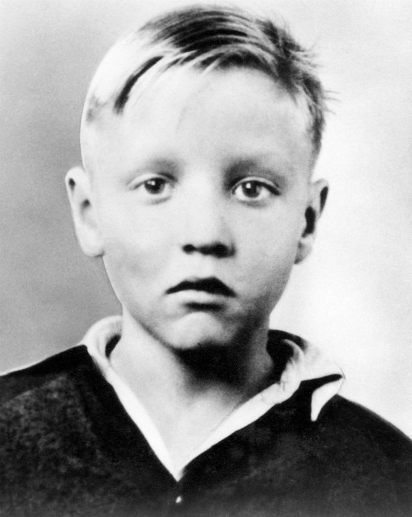 Elvis Presley as Young Boy with Blonde Hair
