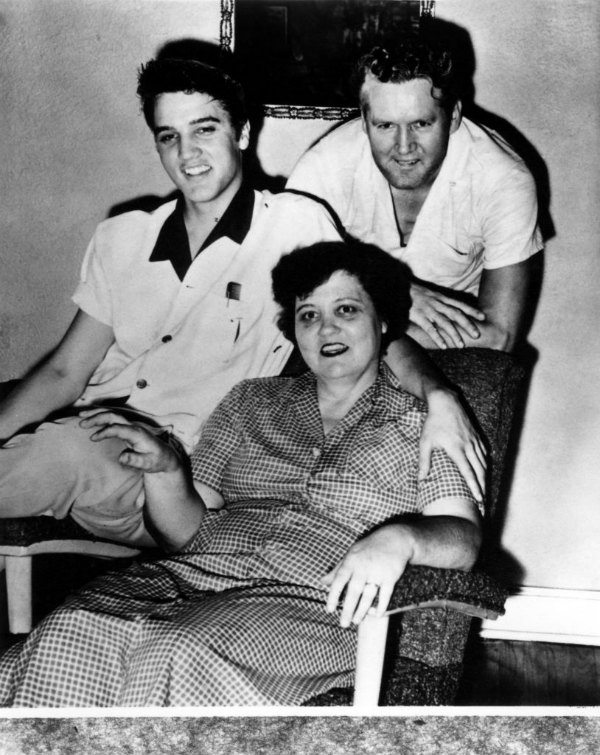 Elvis Presley and His Parents Vernon and Gladys