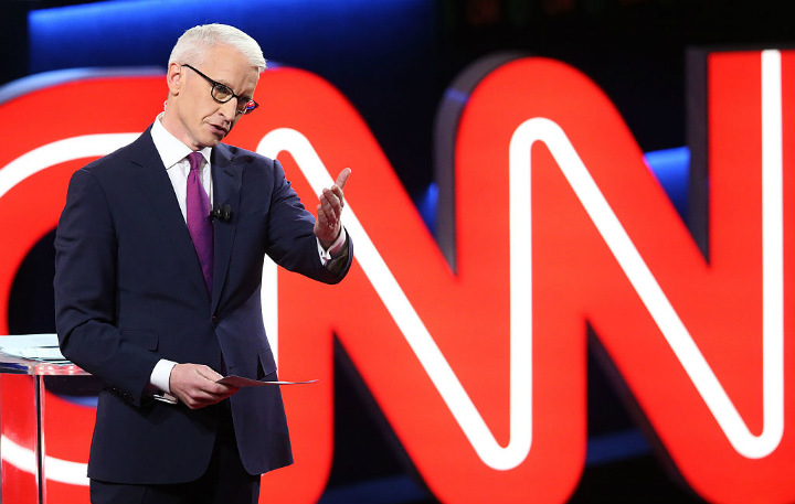 Anderson Cooper and CNN Logo
