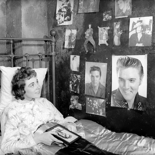 Miss Robinson Who Has Decorated Her Bedroom with Pictures of Elvis Presley