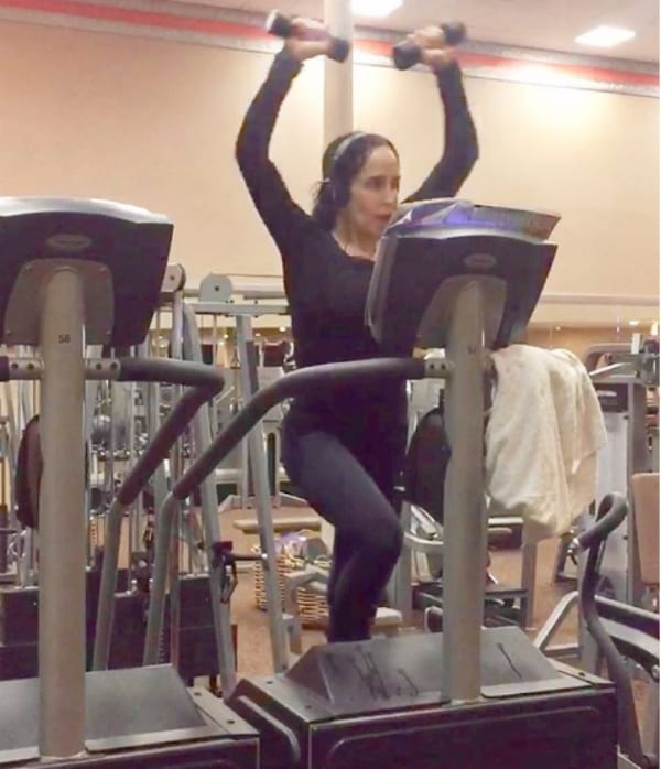 Natalie Suleman at Gym