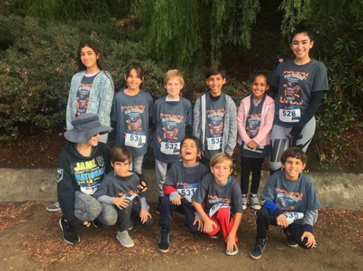 Natalie Suleman and Her 10 Kids After Turkey Trot 5K