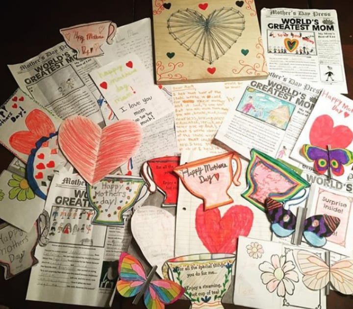Mother's Day Cards to Natalie Suleman