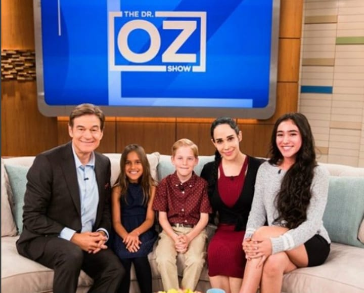 Natalie Suleman and Her Kids on The Dr. Oz Show