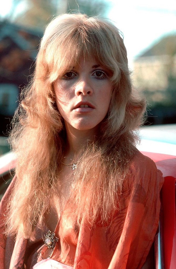 Stevie Nicks wearing red