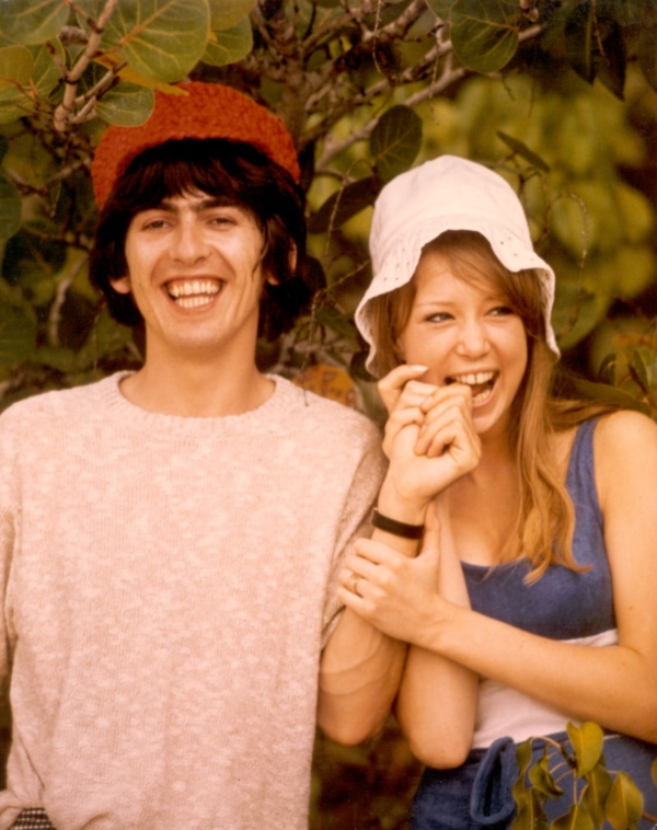 Pattie Boyd & George Harrison - celebrity hippies