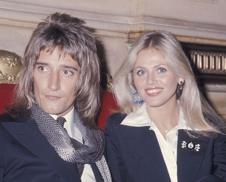 Rod Stewart & Britt Ekland - celebrity hippies