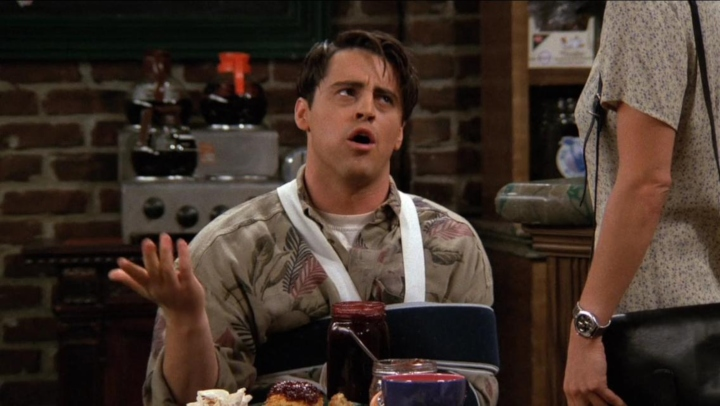 Friends Joey Tribbiani sling plotlines
