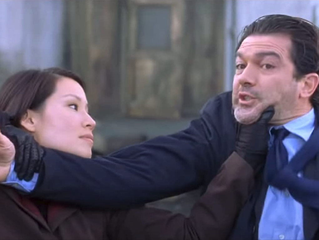 Lucy Liu and Antonio Banderes in Ballistic: Eck and Sever