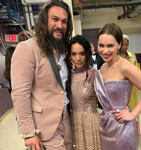 Lisa Bonet Jason Momoa and Emilia Clarke