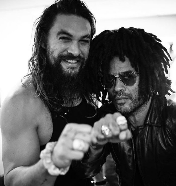 Jason Momoa and Lenny Kravitz