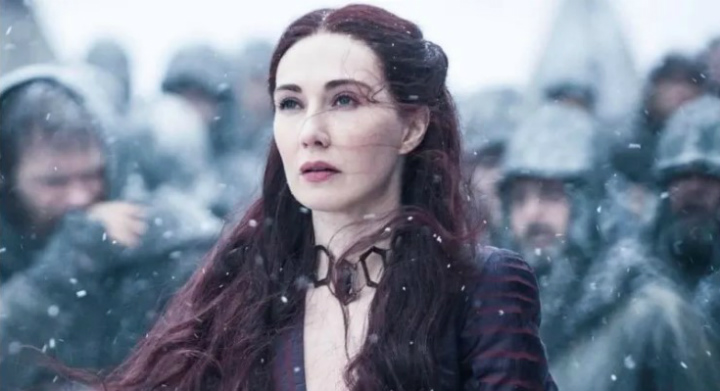 Melisandre on Game of Thrones, production mistakes