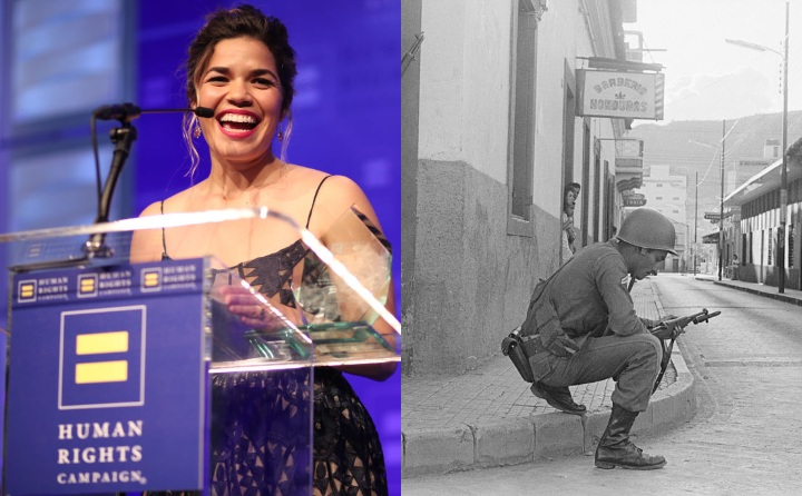 America Ferrera and General Gregorio Ferrera, historic ancestor