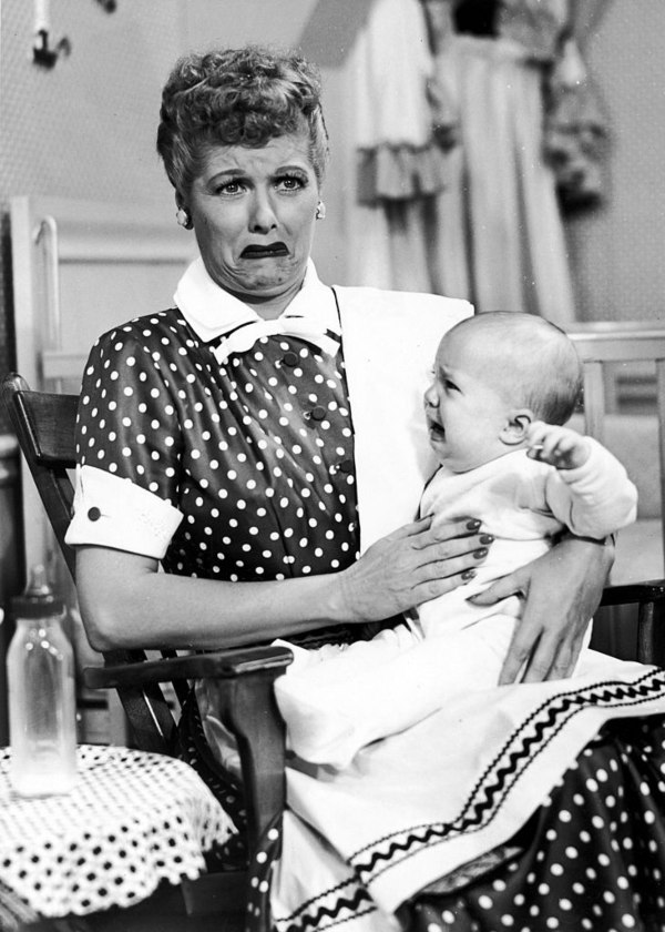 Lucille Ball with baby