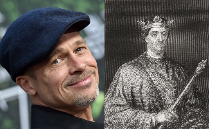 Brad Pitt and King Henry II, historical ancestor