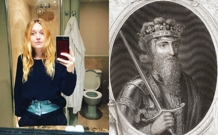 Dakota Fanning and King Edward III, historical ancestor