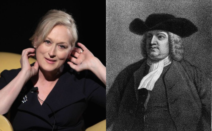 Meryl Streep and William Penn, historical ancestor