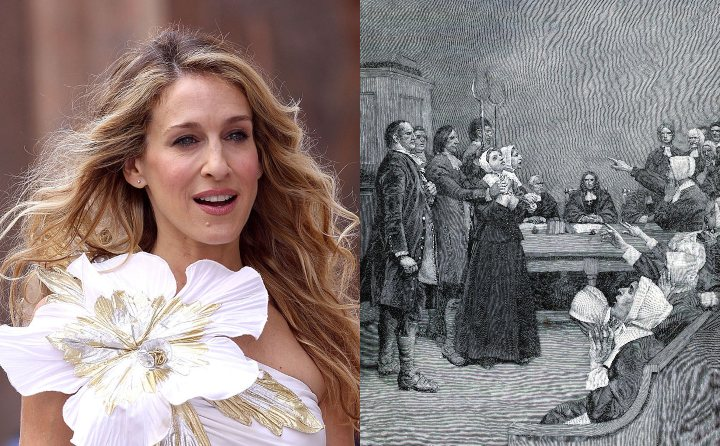 Sarah Jessica Parker and Esther Elwell, historical ancestor