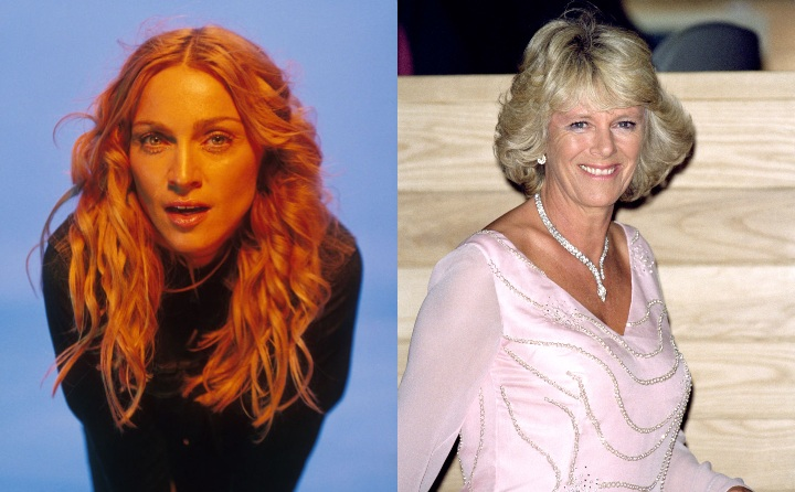 Madonna and Camilla Dutchess of Cornwall, historic ancestor