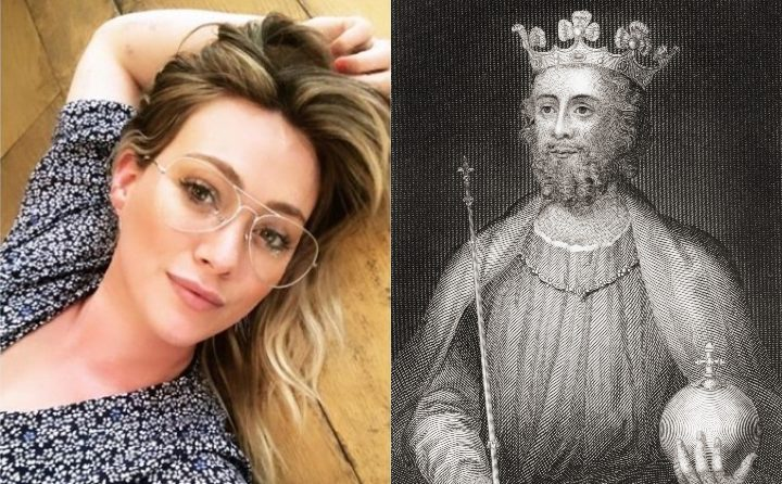 Hilary Duff and King Edward II, historic ancestor