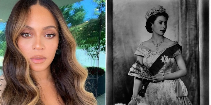 Beyonce and Queen Elizabeth II, historical ancestors