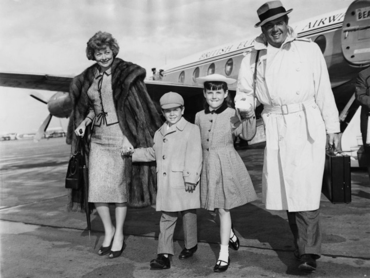 Lucille Ball with Desi Arnaz and their kids