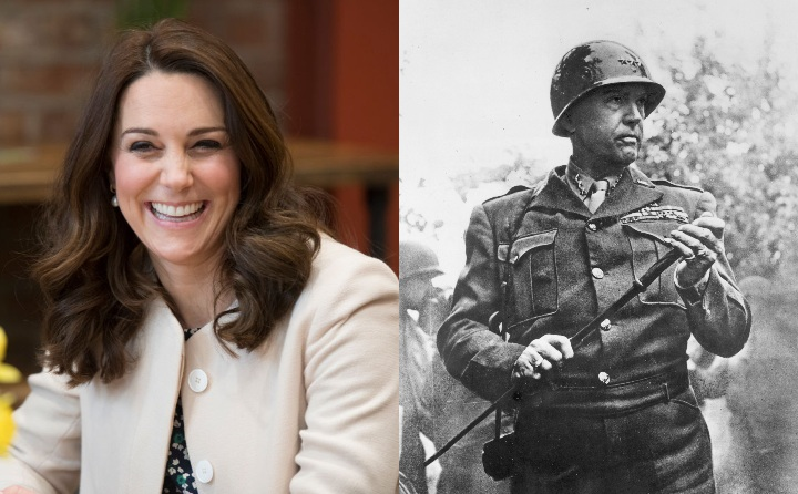 Kate Middleton and General George Patton, historic ancestor