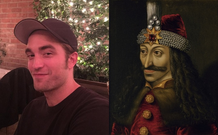 Robert Pattinson and Vlad the Impaler, historical ancestor
