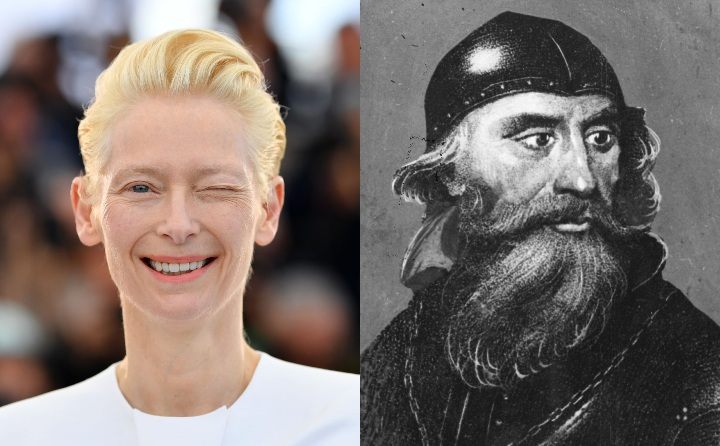 Tilda Swinton and Robert the Bruce, historical ancestor