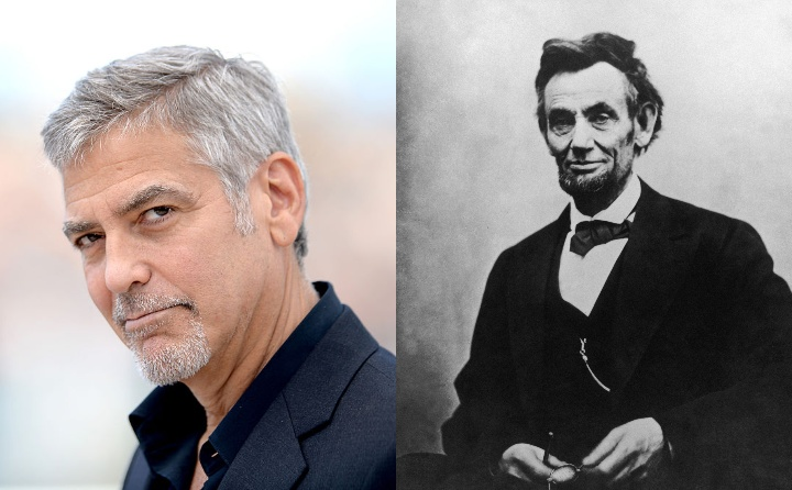 george clooney and abraham lincoln, historical ancestor