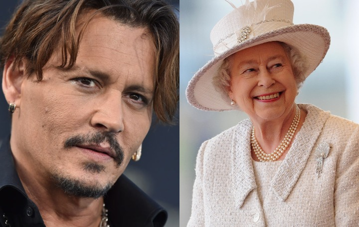 johnny depp and queen elizabeth II
